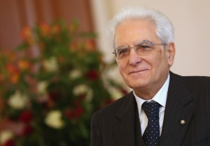 BERLIN, GERMANY - MARCH 02:  Italian President Sergio Mattarella arrives at Schloss Bellevue palace to meet with German President Joachim Gauck on March 2, 2015 in Berlin, Germany. Mattarella is visiting Germany as his first foreign destination since taking office.  (Photo by Sean Gallup/Getty Images)