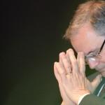 Il governatore della Banca d'Italia, Ignazio Visco, all'università Bocconi al convegno che l'università ha dedicato a Luigi Spaventa, 27 settembre 2013. ANSA/DANIEL DAL ZENNARO